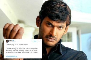 Vishal, Vishal's tweet, Vishal tweet on RK Nagar By-polls | Photo created for InUth.com