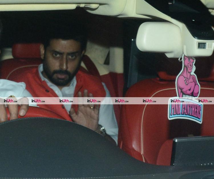 Abhishek Bachchan at Farah Khan's birthday party