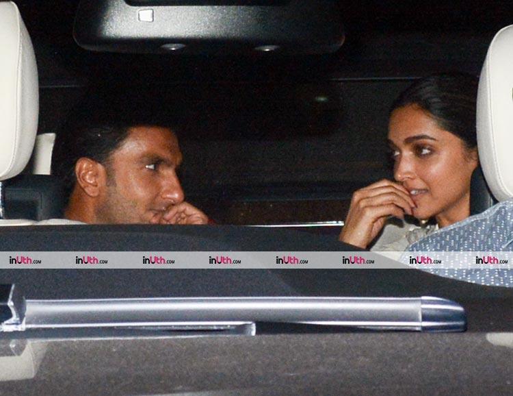 Ranveer Singh just can't take his eyes off Deepika Padukone
