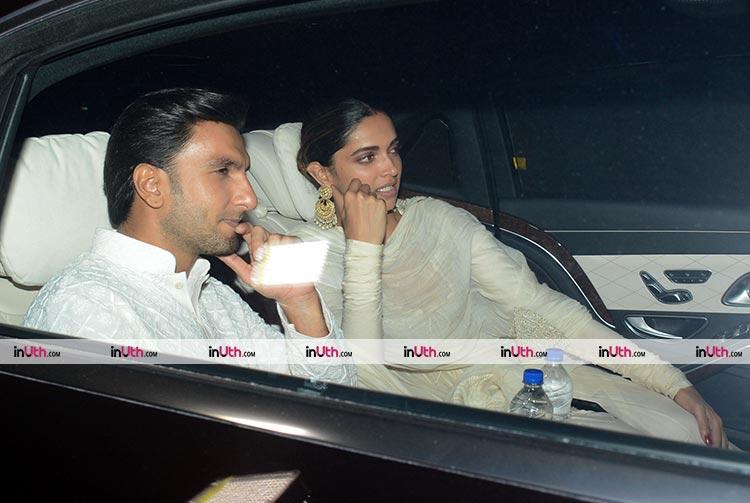 Deepika Padukone and Ranveer Singh arrived together at Padmaavat special screening