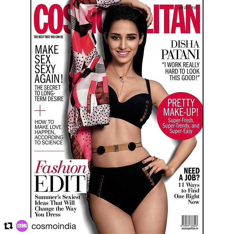 Disha Patani in a bikini on Cosmopolitan cover