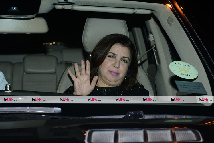 Farah Khan at Shah Rukh Khan's house for Kaajal Anand's birthday