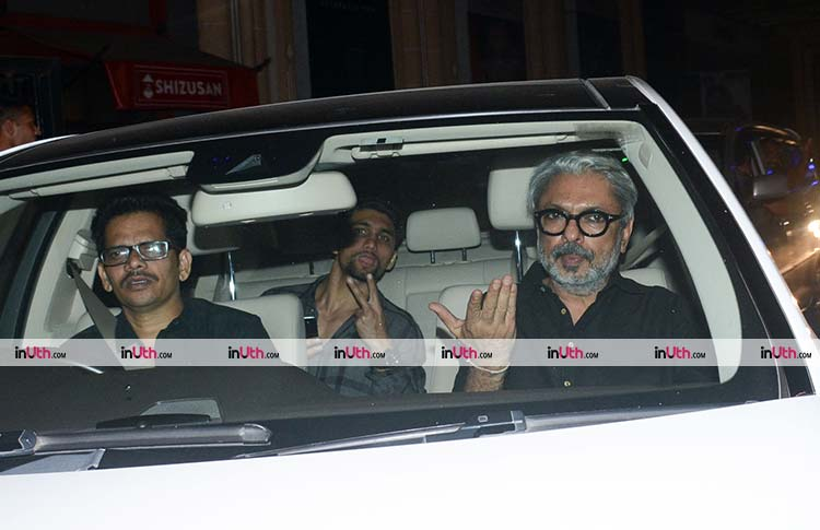 Sanjay Leela Bhansali at the special screening of Padmaavat