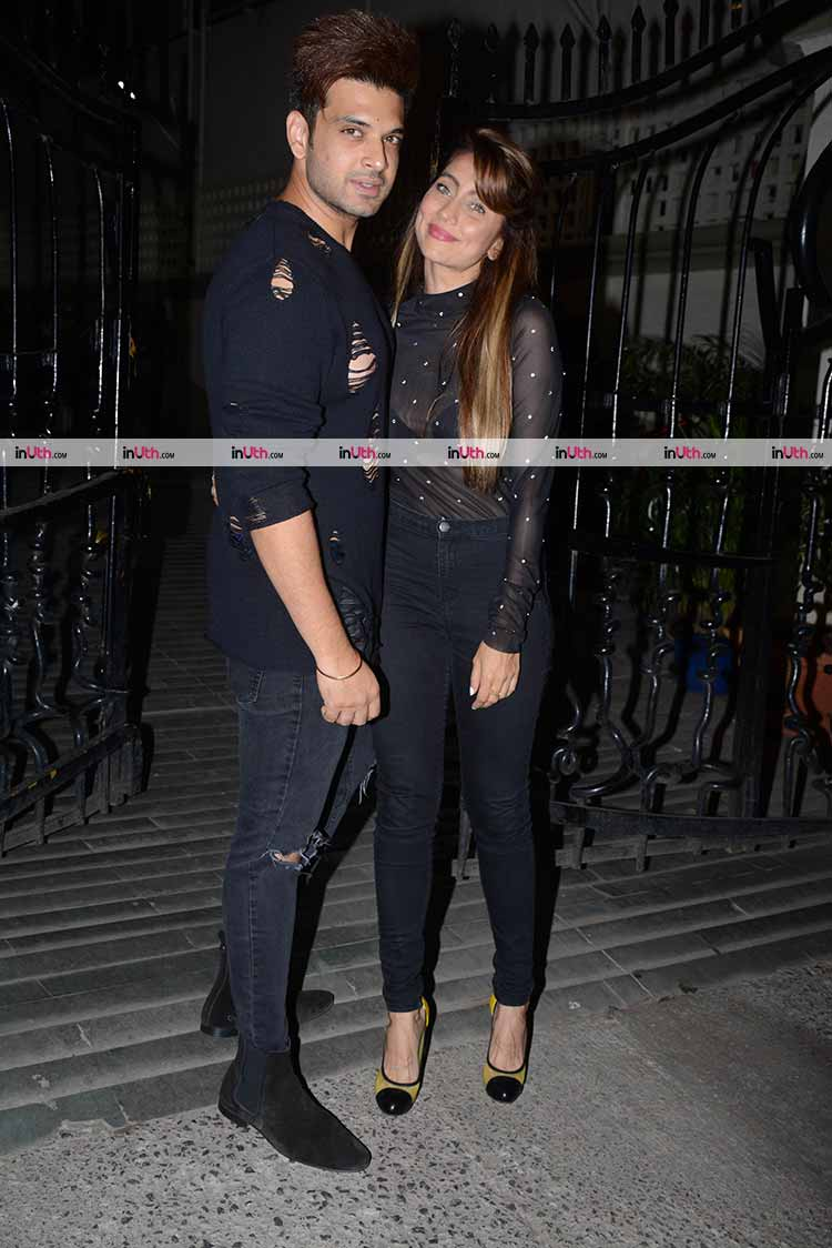 Karan Kundra and Anusha Dandekar at Bipasha Basu's birthday party
