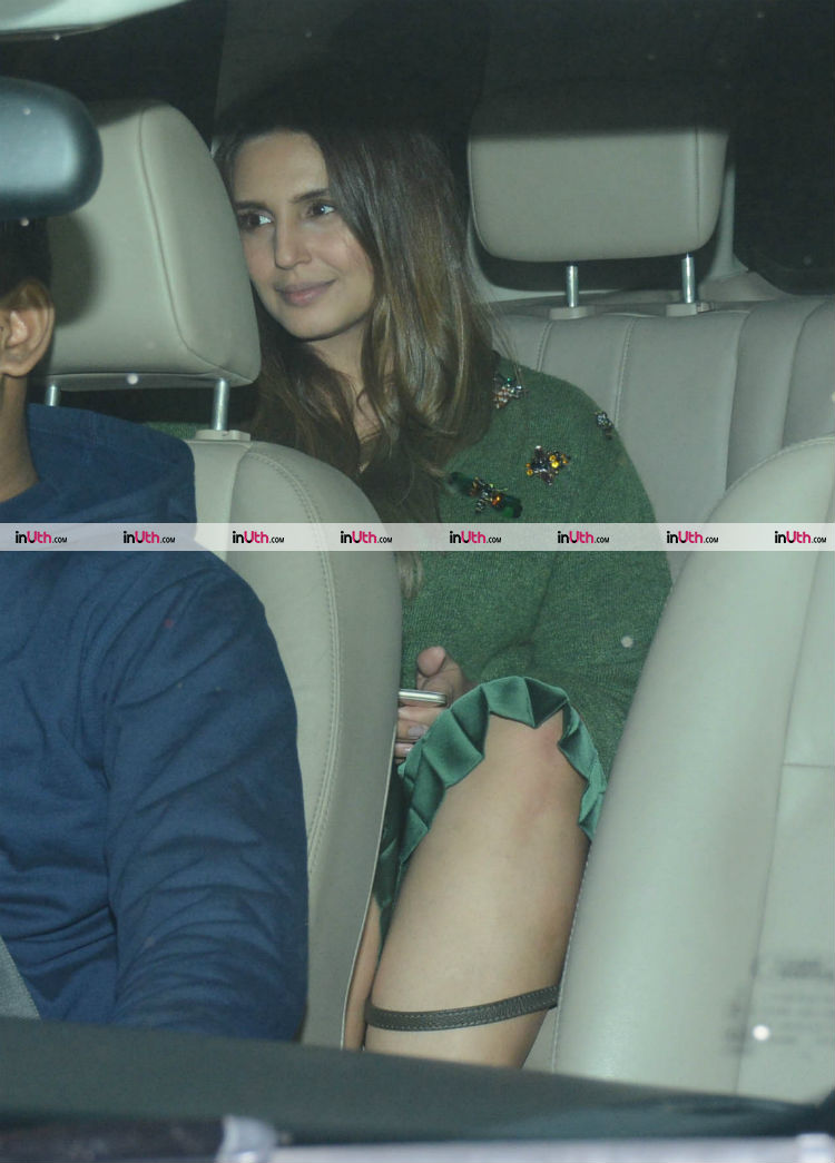 Huma Qureshi at Farah Khan's birthday dinner