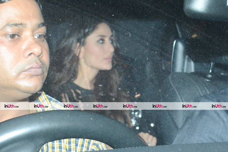 Kareena Kapoor at Shah Rukh Khan's house for Kaajal Anand's birthday
