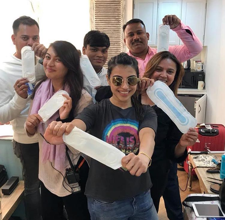 Sonam Kapoor's team takes the PadMan challenge