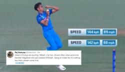Kamlesh Nagarkoti's serious pace will put Indian senior bowlers to shame! Twittersphere goes berserk