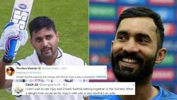 Murali Vijay-Dinesh Karthik in playing XI? Twitterati say 'awkward' moment for Team India