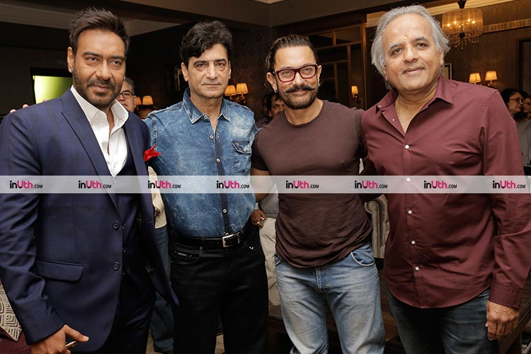 Aamir Khan with the producers of Total Dhamaal