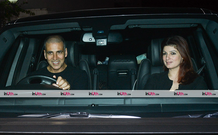 Akshay Kumar and Twinkle Khanna at PadMan screening on February 8