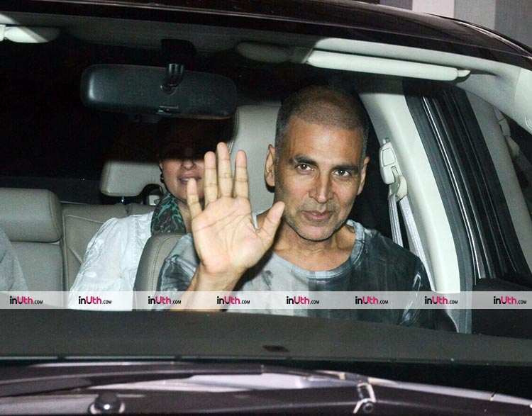 Akshay Kumar at the special screening of PadMan on January 23