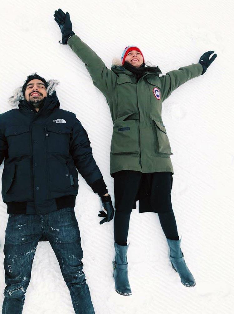 Alia Bhatt, Ayan Mukerji recreating the 'Eternal Sunshine of the Spotless Mind' pose