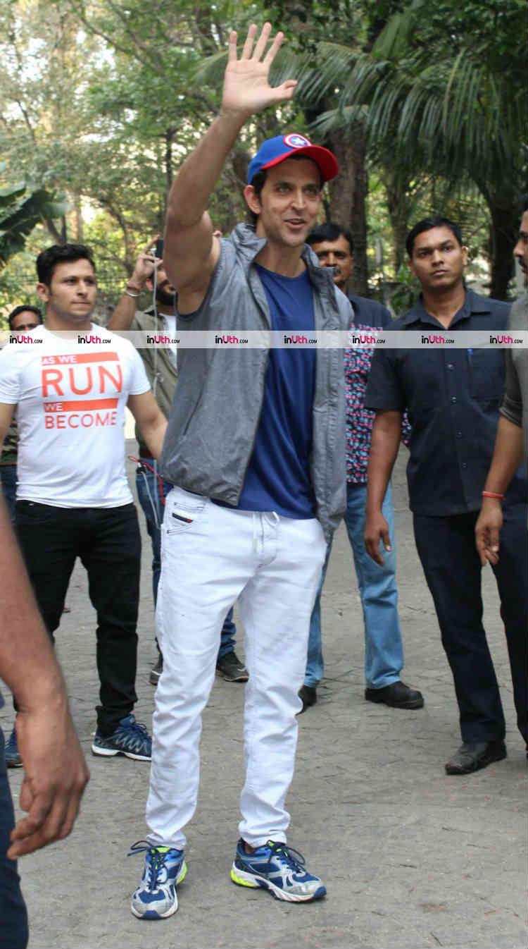 Hrithik Roshan greeting the media on his birthday