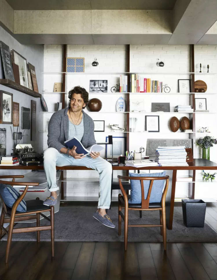 Hrithik Roshan's office space in his house