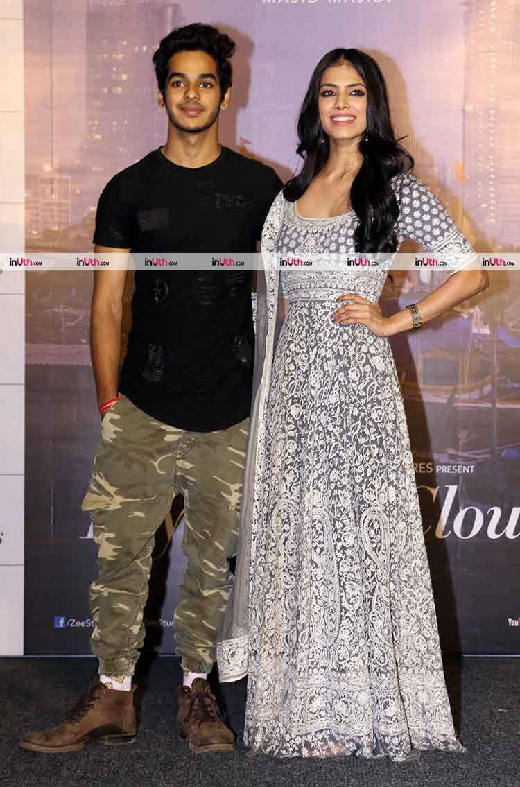 Ishaan Khatter and Malavika Mohanan at Beyond The Clouds trailer launch