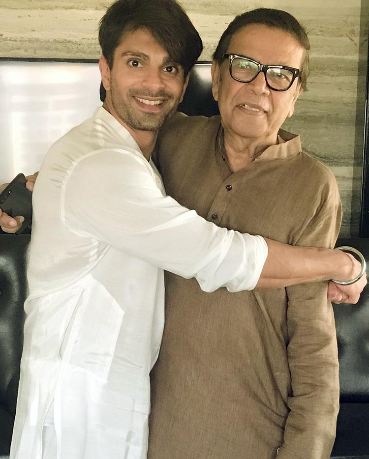 Karan Singh Grover with Bipasha Basu's father