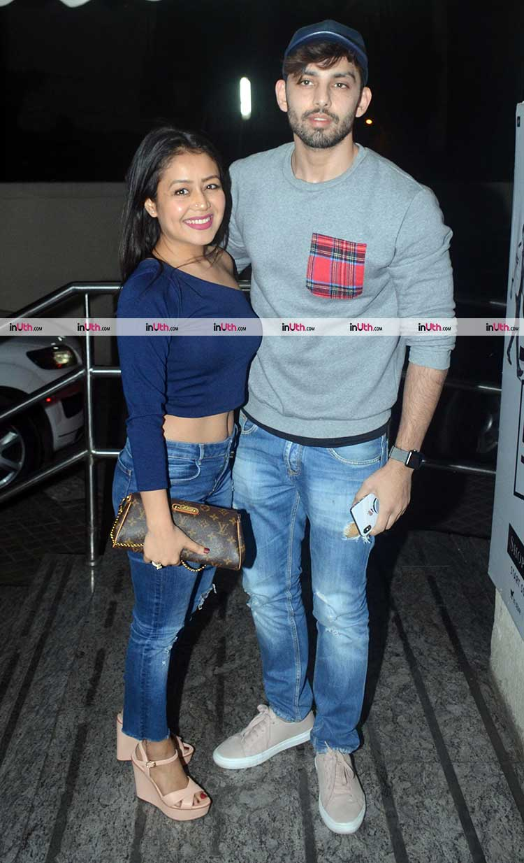 Neha Kakkar and Himansh Kohli at Padmaavat screening