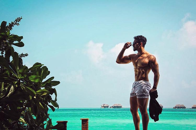 Tiger Shroff's hot beach avatar in Sri Lanka
