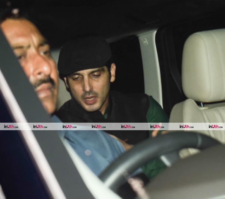 Zayed Khan at Hrithik Roshan's birthday party