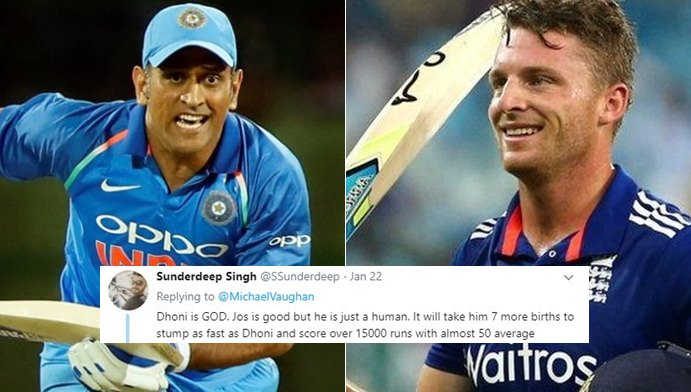 "'Dhoni is 'God', Jos is 'Human"", Twitterati troll Michael Vaughan for calling Buttler better than MSD"