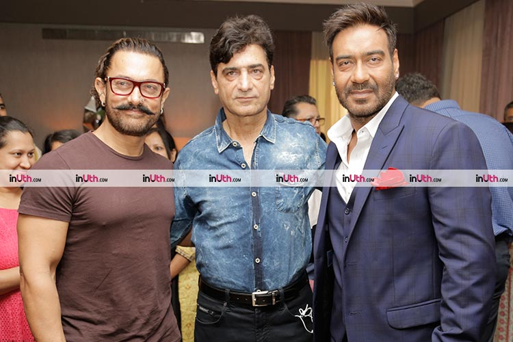 Aamir Khan with Total Dhamaal director Indra Kumar and actor Ajay Devgn