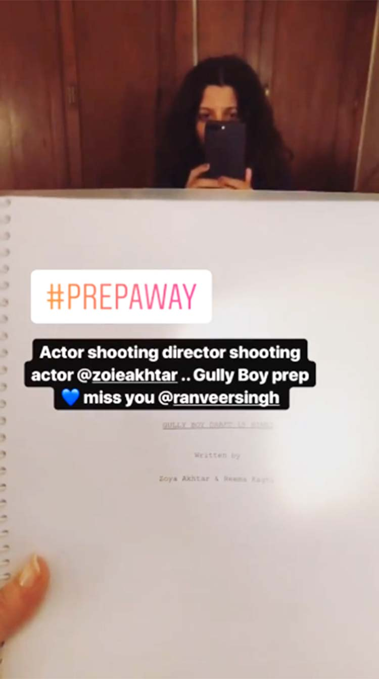 Alia Bhatt and Zoya Akhtar prepping for Gully Boy