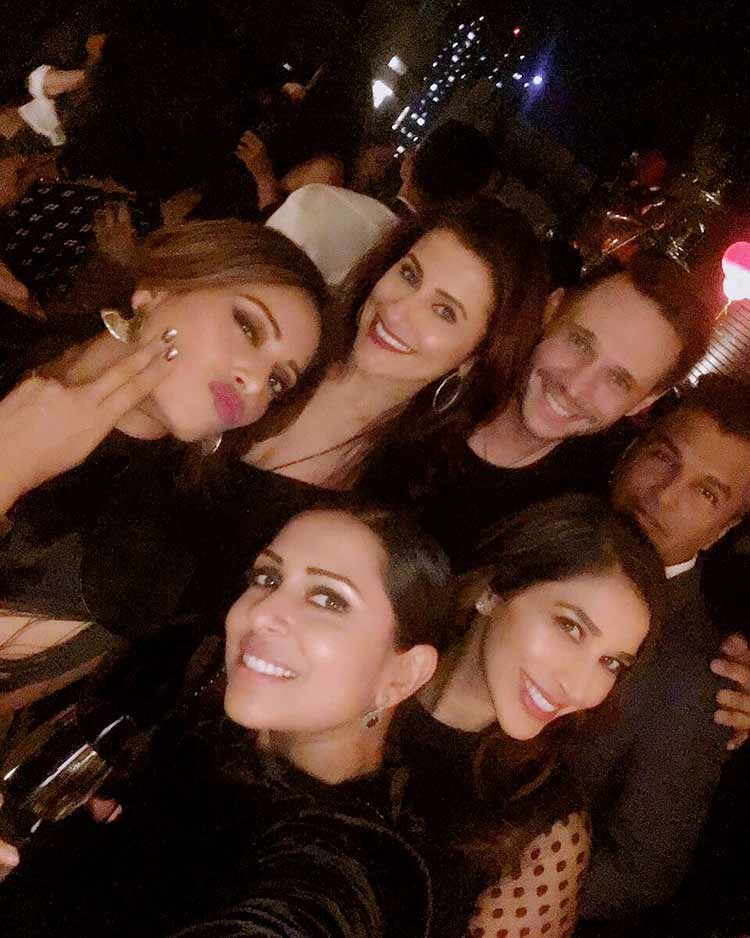 Bipasha Basu with her friends on her birthday