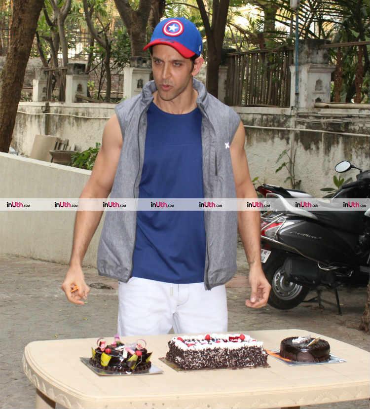 Hrithik Roshan with his birthday cakes