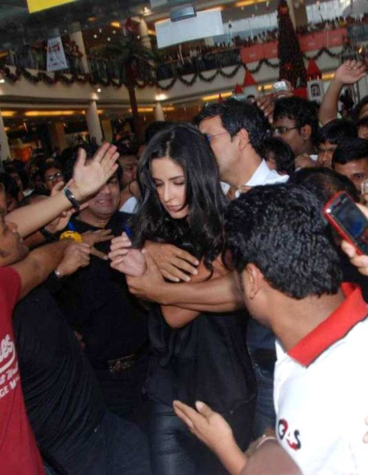 Katrina Kaif mobbed during a promotional event