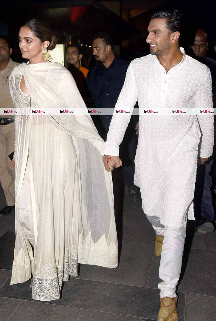 Ranveer Singh with Deepika Padukone at Padmaavat screening