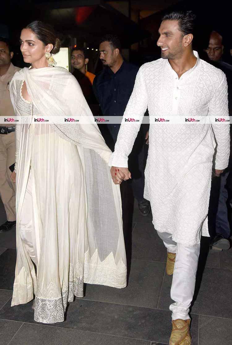 Ranveer Singh with Deepika Padukone at Padmaavat screening