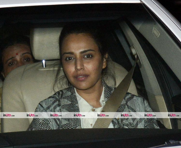 Swara Bhaskar attends the special screening of PadMan