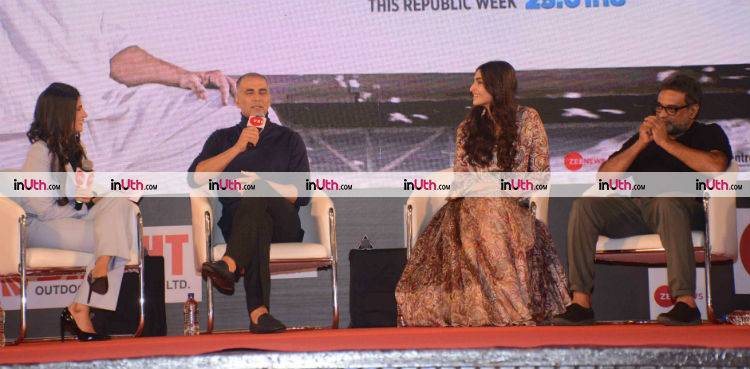 Team PadMan promoting the film at Innovator's conclave in Mumbai