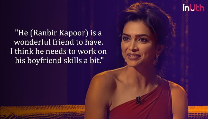 Deepika Padukone on Ranbir Kapoor