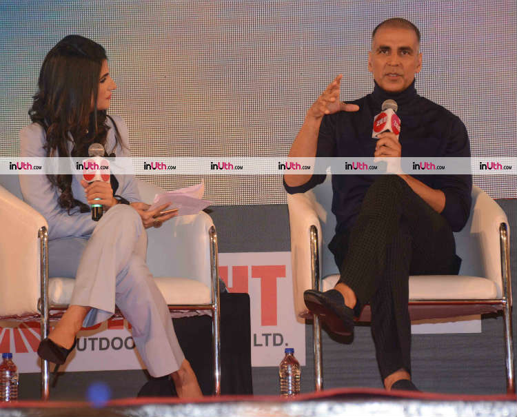 Akshay Kumar talking about PadMan at Innovator's conclave