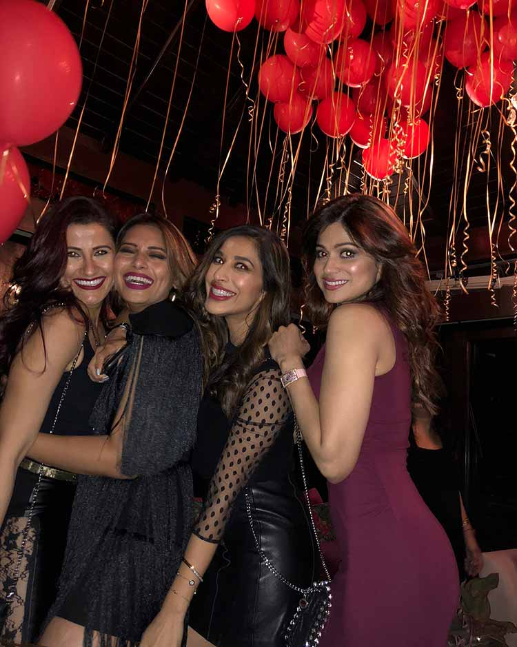 Bipasha Basu with her girlfriends on her birthday