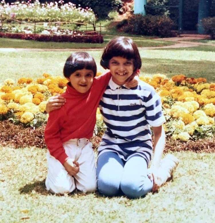 Deepika Padukone with her younger sister Anisha Padukone