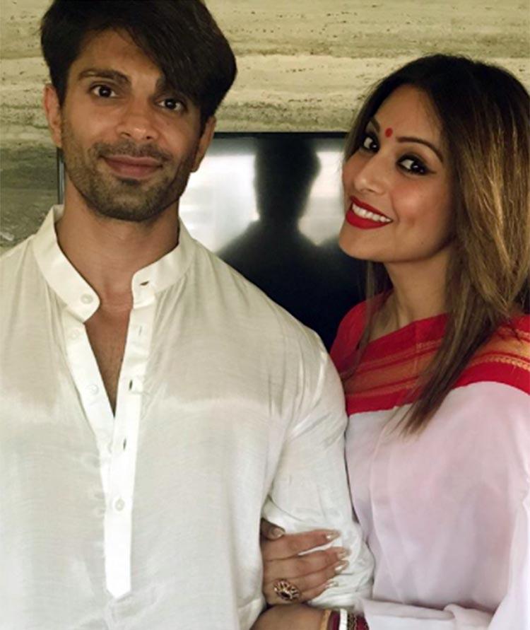 Karan Singh Grover and Bipasha Basu in traditional looks