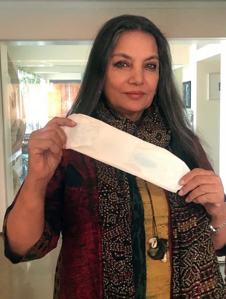 Shabana Azmi takes the PadMan challenge