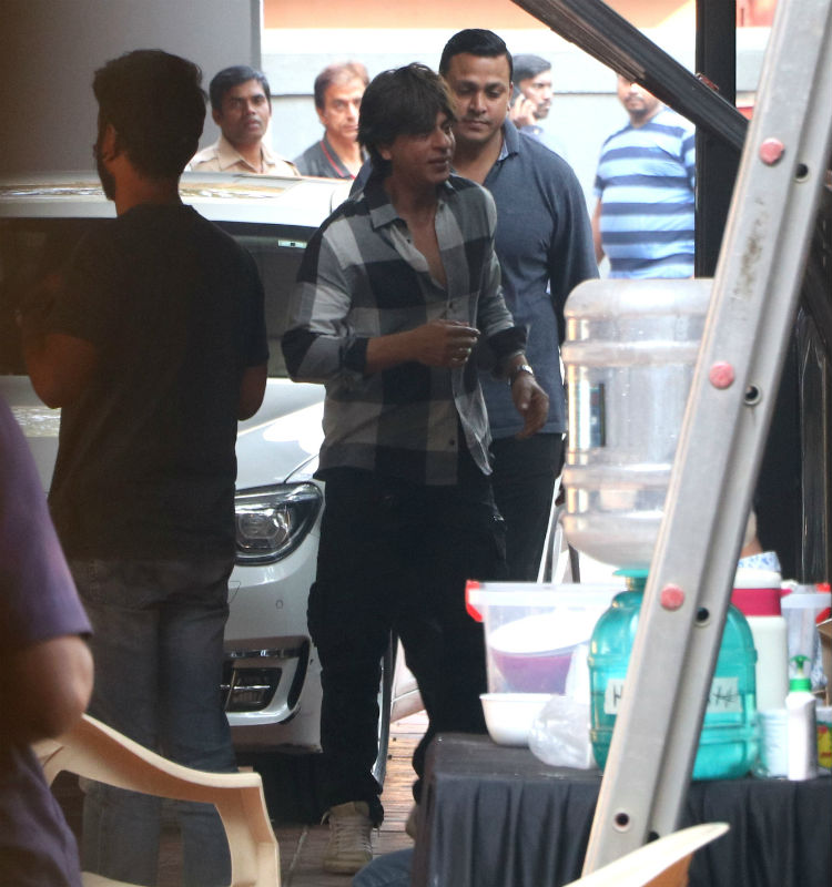 Shah Rukh Khan on the sets of his movie Zero