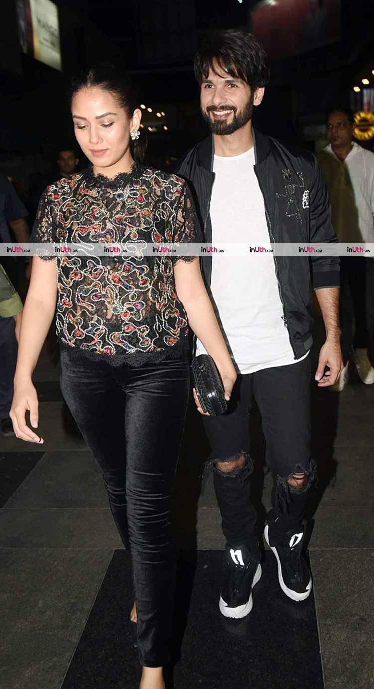 Shahid Kapoor with Mira Rajput at Padmaavat special screening
