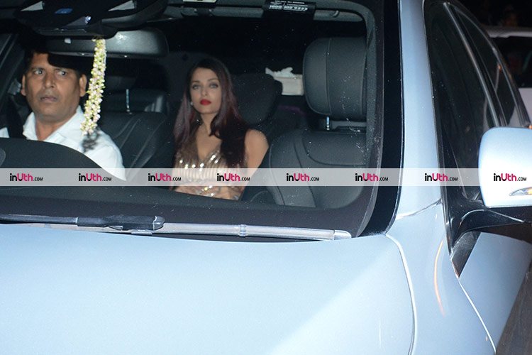 Aishwarya Rai at Shah Rukh Khan's house for Kaajal Anand's birthday