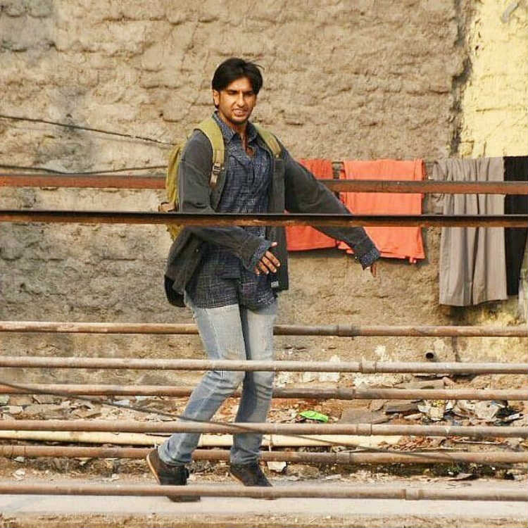 Ranveer Singh on sets of Gully Boy