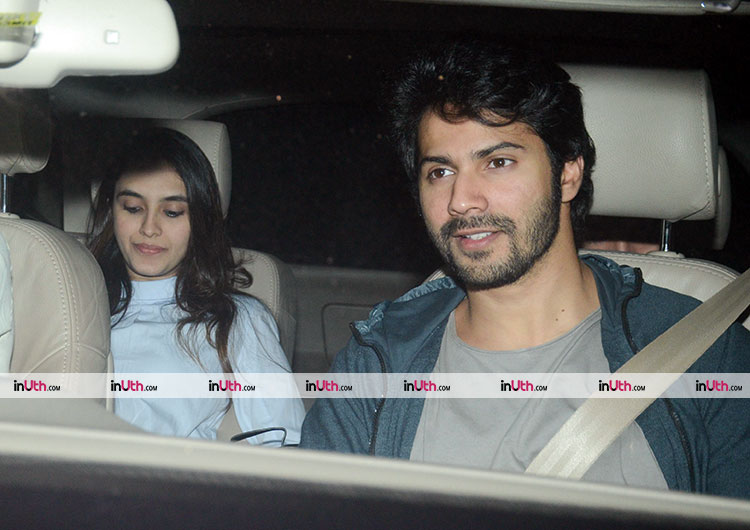 Varun Dhawan at the special screening of PadMan on February 8