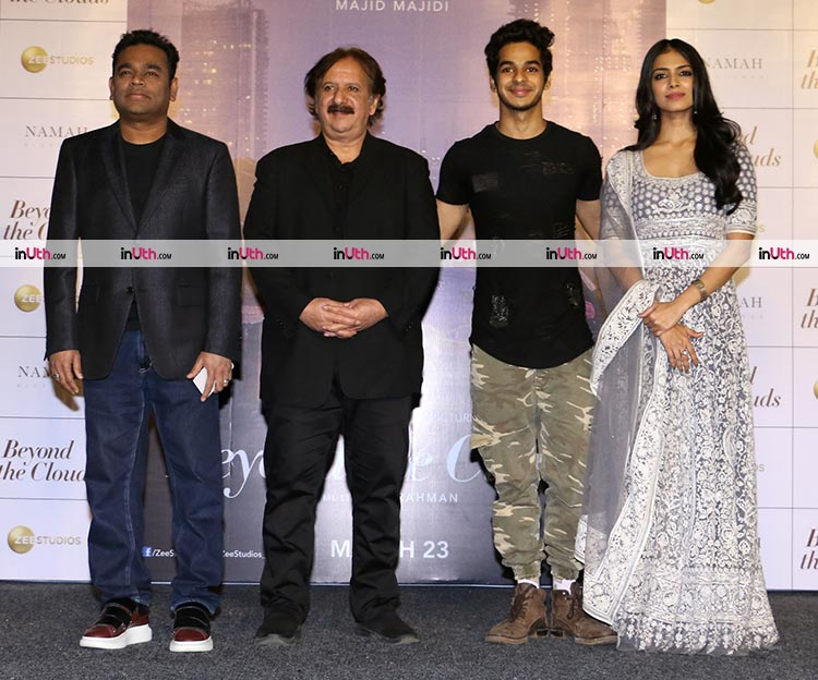 A.R. Rahman with Majid Majidi and Beyond The Clouds trailer launch