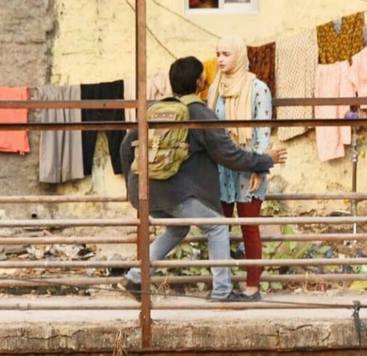 Alia Bhatt and Ranveer Singh shooting for Gully Boy