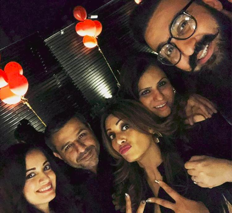 Bipasha Basu snapped during her birthday celebrations