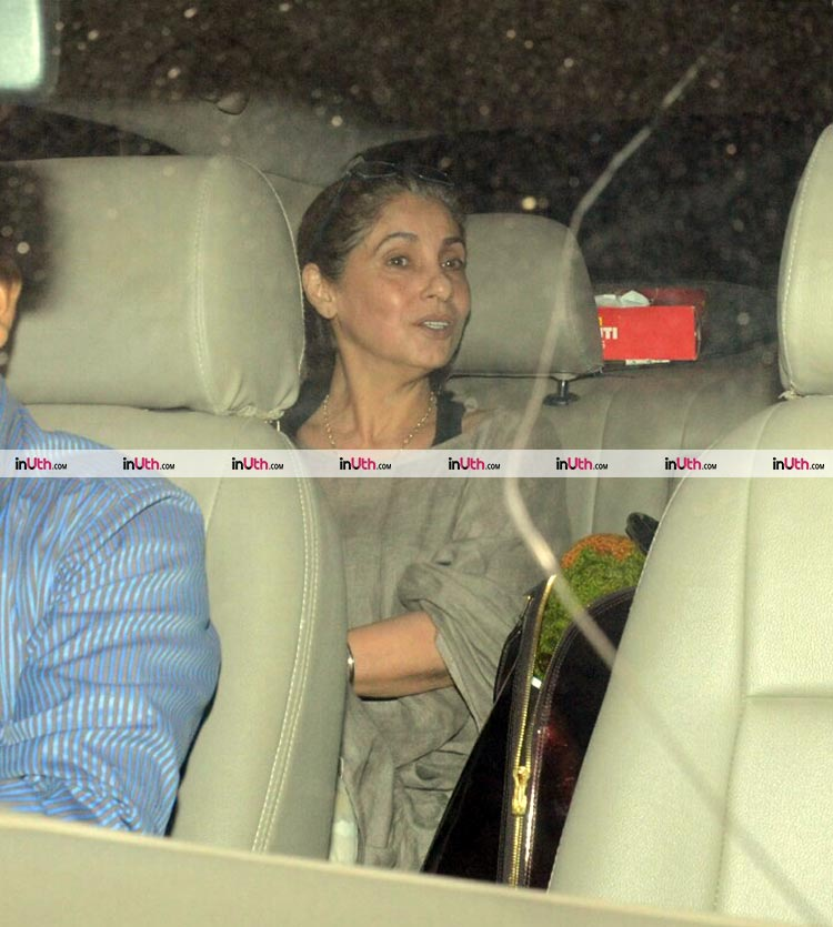 Dimple Kapadia at the special screening of PadMan