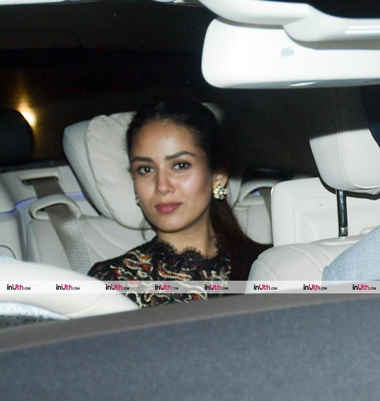 Mira Rajput arriving for the Padmaavat screening